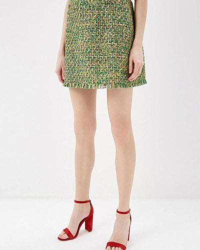 Зеленая юбка льняная Imperial