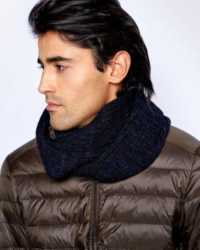 Синий шерстяной шарф с капюшоном Baon