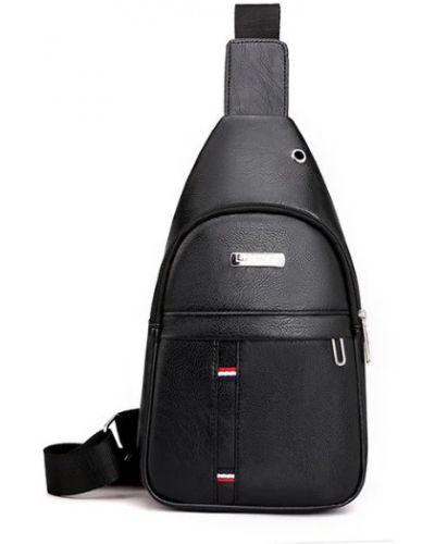 Сумка через плечо с карманами - черная Jingpin