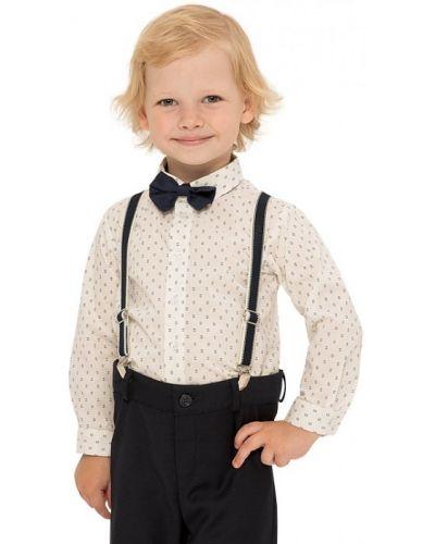 Нарядная с рукавами блузка с воротником карамелли