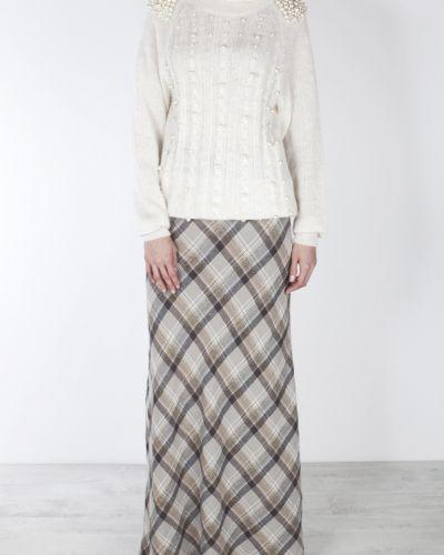 Шерстяная юбка макси - серая A La Russe