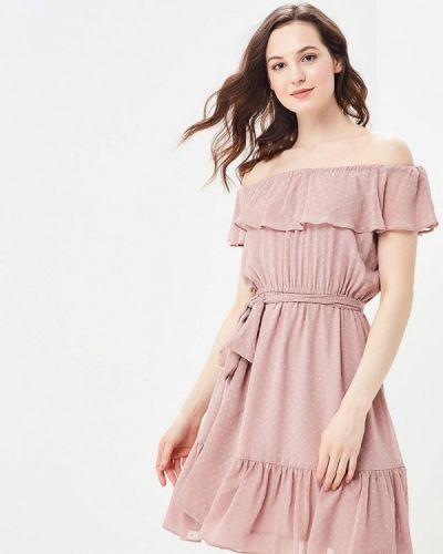 Розовое платье весеннее Lusio