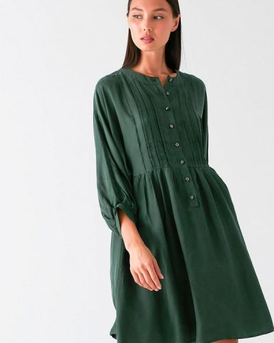 Зеленое прямое платье Love Republic