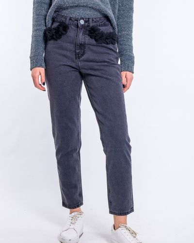 Черные джинсы с нашивками Lost Ink.