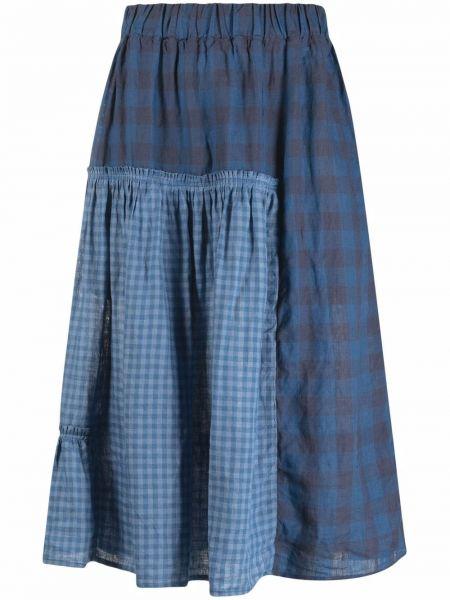 Синяя юбка с принтом Henrik Vibskov