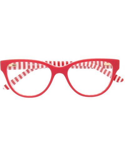 Красные очки в полоску Polo Ralph Lauren