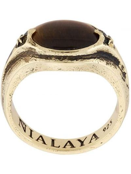 Золотистое желтое кольцо с камнями Nialaya Jewelry
