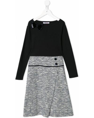 Черное платье макси с запахом с вырезом Familiar