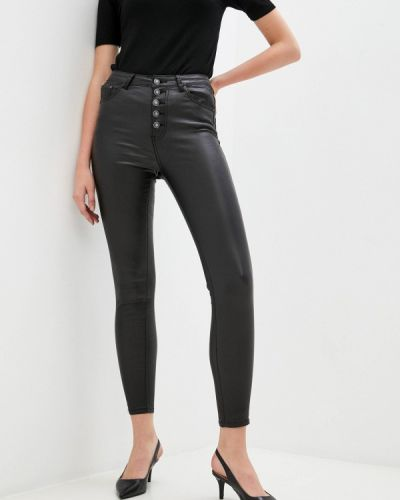 Черные кожаные брюки Miss Bon Bon