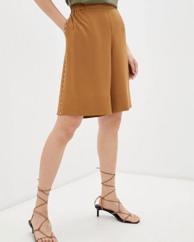 Повседневные коричневые шорты Twinset Milano