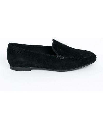 Черные кожаные мокасины Vagabond