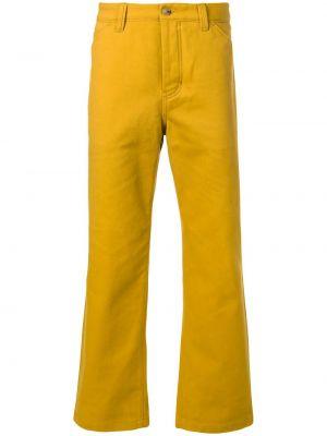 Bawełna bawełna żółty spodnie z kieszeniami Acne Studios