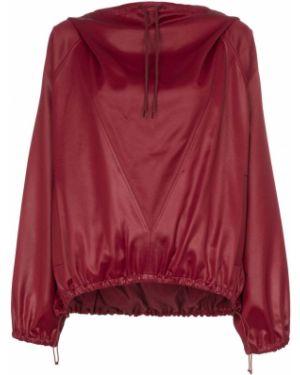 Bluza z kapturem z kapturem burgundia Givenchy