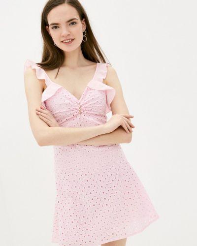 Прямое розовое платье А-силуэта Izabella