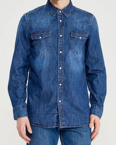 Синяя джинсовая рубашка Mustang