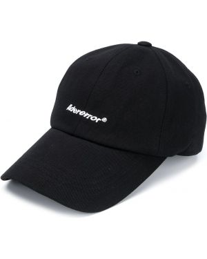 Czarna czapka z haftem bawełniana Ader Error
