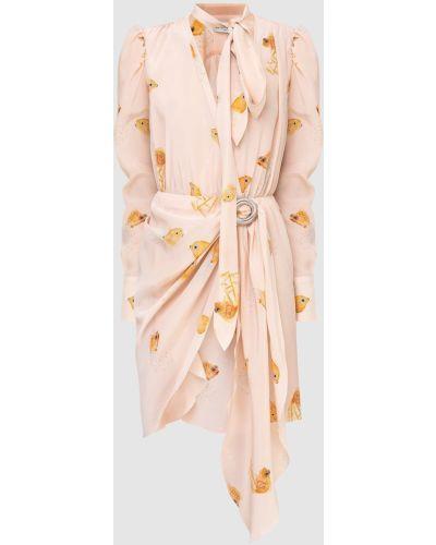 Платье миди пудровое Lanvin