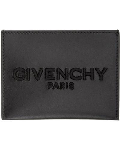 Wizytownik czarny skórzany Givenchy