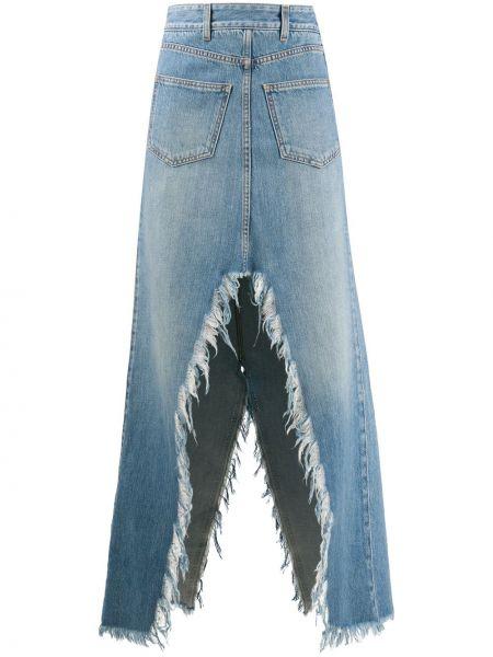 Юбка макси с завышенной талией с карманами Givenchy