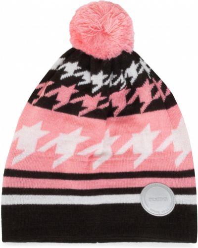 Różowa czapka z akrylu Reima
