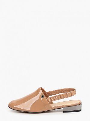 Лаковые кожаные бежевые туфли Tuffoni