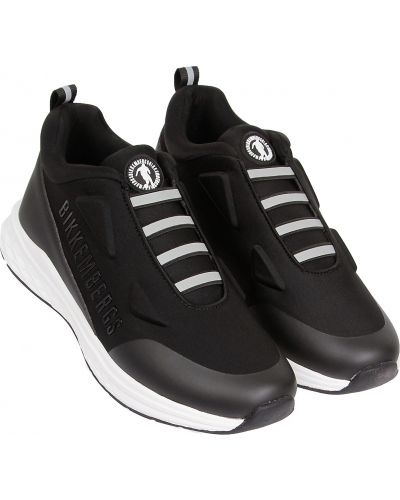 Черные текстильные кроссовки Bikkembergs