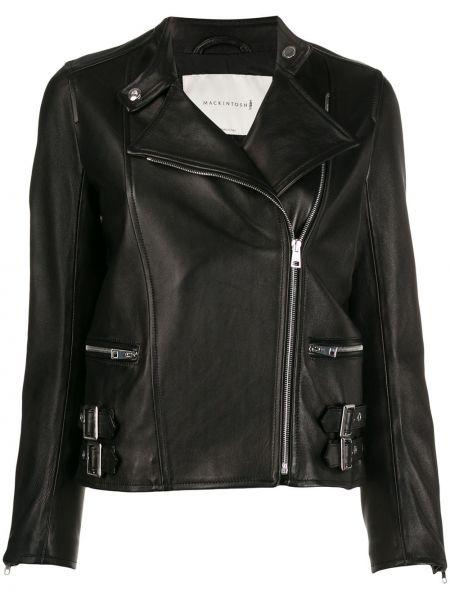 Черная кожаная куртка на молнии Mackintosh
