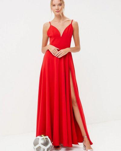 Вечернее платье весеннее красный Tutto Bene