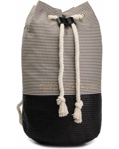 Plecak beżowy czarny Emporio Armani