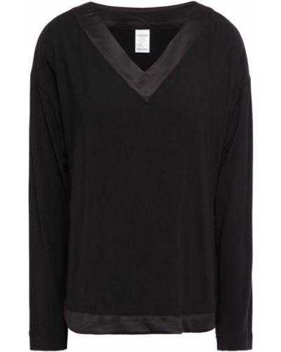 Satynowy czarny top Calvin Klein