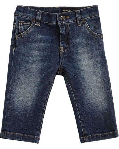 Bawełna bawełna niebieski jeansy z kieszeniami Dolce And Gabbana