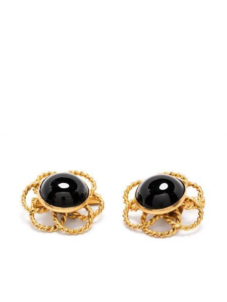 Золотистые запонки золотые позолоченные Yves Saint Laurent Pre-owned