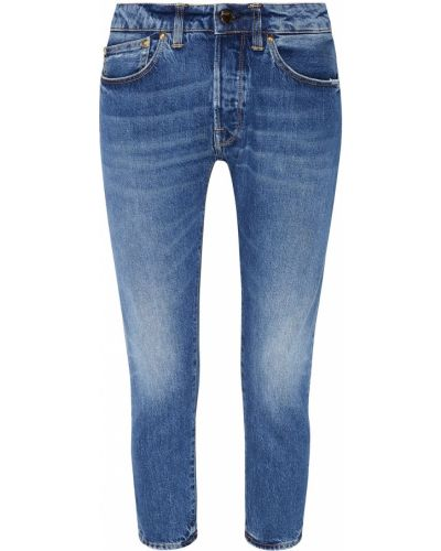 Укороченные джинсы скинни с эффектом потертости Golden Goose Deluxe Brand