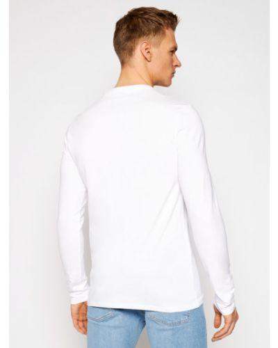 Biały koszulka z długim rękawem Guess