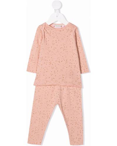 Różowa piżama z długimi rękawami Bonpoint