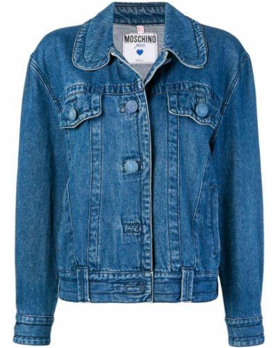 Синяя джинсовая куртка свободного кроя на пуговицах Moschino Pre-owned