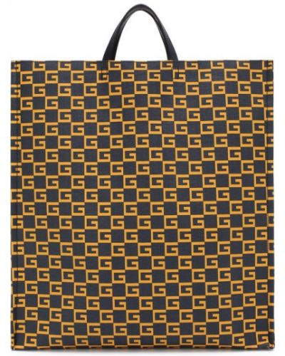 Кожаная сумка сумка-тоут текстильная Gucci