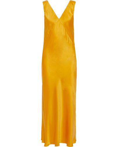 Sukienka długa z jedwabiu Asceno