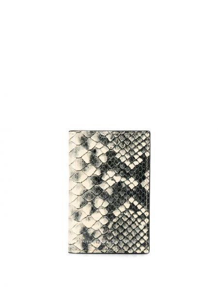 Czarny portfel skórzany z printem Giuseppe Zanotti