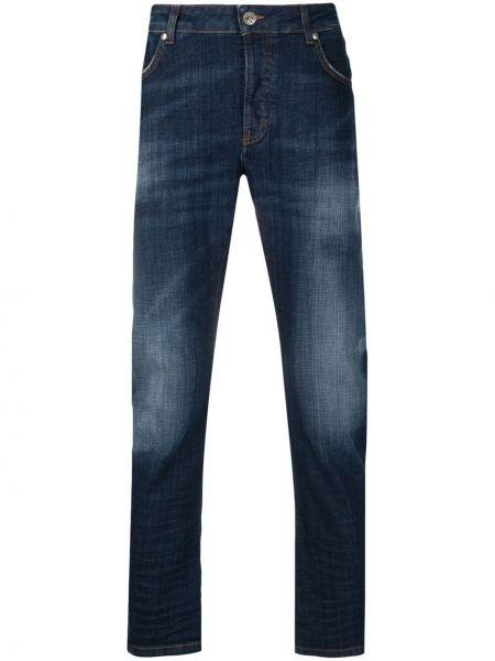 Синие прямые джинсы стрейч John Richmond