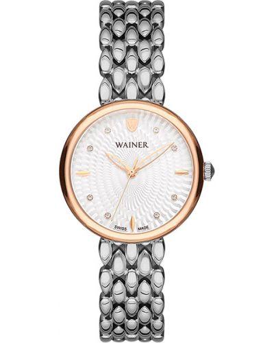 Водонепроницаемые часы кварцевые с камнями Wainer