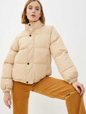 Бежевая утепленная куртка Fresh Cotton