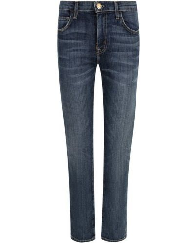 Укороченные джинсы с эффектом потертости Current/elliott