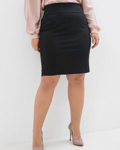 Черная прямая юбка карандаш Zizzi