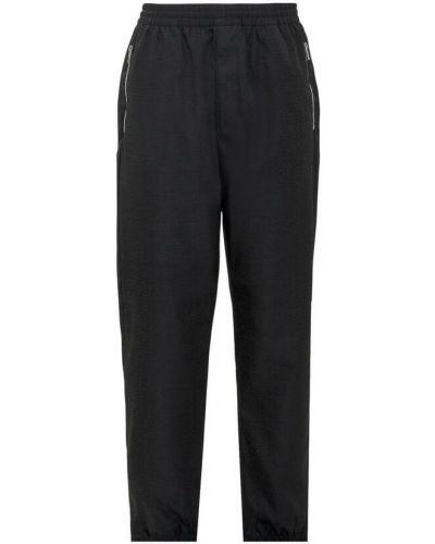 Czarne spodnie do biegania Givenchy