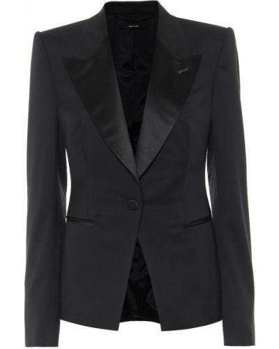 Однобортный черный классический пиджак для полных Tom Ford