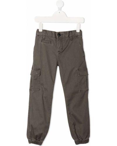 Брючные коричневые брюки карго с карманами Sun 68