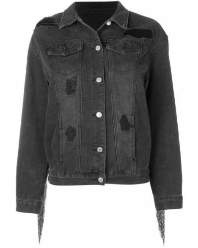 Черная джинсовая куртка Loulou