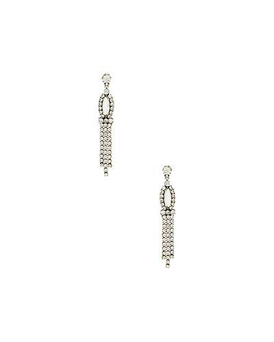 Серьги серебряного цвета Marc Jacobs