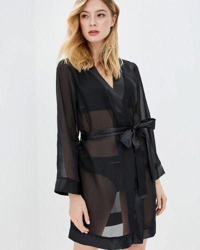 Черный халат Bluebella